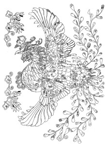 Welcome to the preview of Lost Birds coloring book by Pippa Rossi